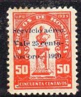 APR2907 - HONDURAS 1929 , Posta Aerea Yvert N. 16  *  Linguella (2380A) - Honduras