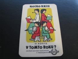 Czechoslovakia Pocket Calendar Jednota 1961 Rare - Small : 1961-70