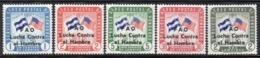 APR2911 - HONDURAS 1964 , Posta Aerea Yvert N. 302/306  ***  Integro (2380A)  FAME - Honduras