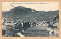 CPA Grenoble, Panorama Des Quais Et Le Moucherotte, Gel. 1922 - Grenoble