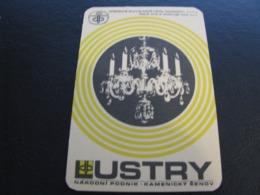 Czechoslovakia Pocket Calendar Lustry 1974 Rare - Kalenders