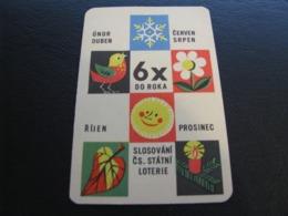 Czechoslovakia Pocket Calendar Lottery 1965 Rare - Calendriers