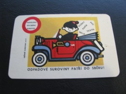 Czechoslovakia Pocket Calendar Scrap Materials 1966 Rare - Calendars