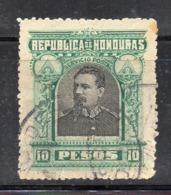 APR2913 - HONDURAS , Servizio Postale 10 Pesos Verde E Grigio. Usato (2380A)  ONU - Honduras
