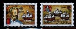 Europa CEPT Yougoslavie - Jugoslawien - Yugoslavia 1992 Y&T N°2397 à 2398 - Michel N°2534 à 2535 *** - Europa-CEPT