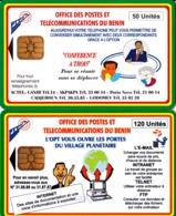 2 TC Telecard OPT Du Benin 50U Et 120U - Benin