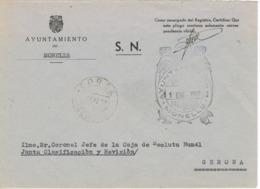 34036. Carta S.N. Franquicia Ayuntamiento MONELLS (Gerona) 1960. Fechador CORSÁ - 1931-Hoy: 2ª República - ... Juan Carlos I