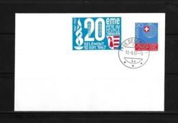 1967 HEIMAT JURA → Briefumschlag 20 Eme Féte Du Peuple Jurassien, Delémont 10Sept.1967 - Suisse
