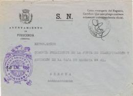 34037. Carta S.N. Franquicia Ayuntamiento PUIGCERDA (Gerona) 1960. Fechador Puigcerda - 1931-Hoy: 2ª República - ... Juan Carlos I