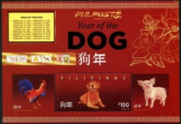 Pilipinas - Philippines (2019) - Block -  /  Dog - Chien - Hunde - Chinese New Year - UNUSUAL Gold - Chinese New Year
