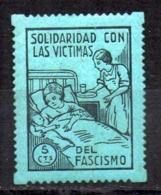 Viñeta Solidaridad Con Las Victimas Del Fascimo. - Vignette Della Guerra Civile