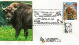 Western Wildlife. Bison D'Amérique, Sur Lettre USA. Glen Rock Stamps Thematic Collection (New-Jersey) Postmark - Briefmarken