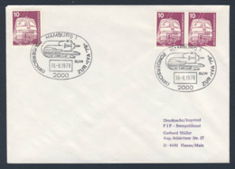 """Deutschland Germany 1978 Cover / Brief / Enveloppe - Sonderschau Zur """"IVA '79"""" Hamburg / Special Show - Treinen"""
