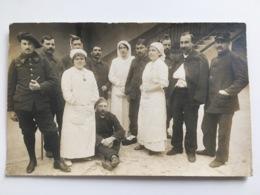Foto Ak Soldats Er Soeurs Francais Alpiniste Alpin Batallion 24 Villefrance - War 1914-18