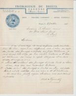 1938  FROMAGERIE Du BREUIL  SAUGUES - Levensmiddelen