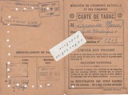 45 - CHATEAURENARD - Carte De Tabac De 1942 - Historical Documents