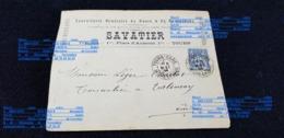 Courrier En Tête SAVANIER TOURS 37 Place D'Aumont Bouchon Tonnellerie Ad 36 INDRE BERRY LEGER CHARLOT Tonnelier VALENCAY - Oude Documenten