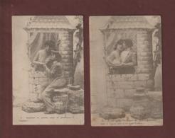 Cpa - 2 Cartes De Couple Non écrites  -  Voir Les 2 Scannes - Coppie