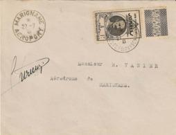 Liaison Djibouti-France Le 27/07/1941 Arrivée à Marignane Le 27/07/1941 - Signé Du Pilote Durmon - Sup +++ - Côte Française Des Somalis (1894-1967)