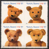 USA 2002 Teddy Bears Centennial - Unused Stamps