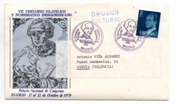 Carta Con Matasellos De Semana Popular Filatelica Y Numismatica Madrid  Con Matasellos Difusion Cultural - 1931-Hoy: 2ª República - ... Juan Carlos I
