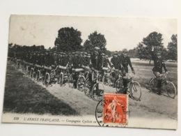 AK CP L'armee Francaise Compagnie Cycliste - Ausrüstung