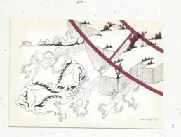 Cp,ASTROLOGIE , Série Zodiaque ,puzzle Composé De 12 Cartes,  N° 12, POISSON ,illustrateur Yvan Mauger , Dédicacée,1986 - Astrology
