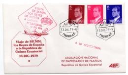 Carta Con Matasellos De Visita Los Reyes De España A Guinea Ecuatorial. Con Matasellos Avion 1979 - 1931-Hoy: 2ª República - ... Juan Carlos I