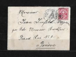 1893 HEIMAT NIDWALDEN → Umschlag Park-Hotel Bürgenstock Nach Genève  ►Hotel-Stempel◄ - Storia Postale