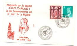 Carta Con Matasellos Commemorativo Inaguracion De La Mezquita De Cordoba. 1986 - 1931-Hoy: 2ª República - ... Juan Carlos I