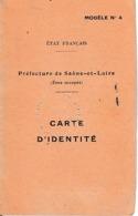 WW2 1944 - EPINAC-les-MINES -  AUTUN - ETAT FRANÇAIS - CARTE D'IDENTITÉ - - Documentos Históricos
