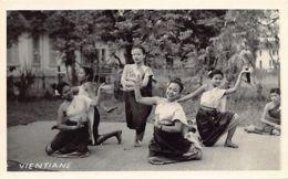 Laos - VIENTIANE - Laotian Women Dancing 1 - REAL PHOTO Circa 1954. - Laos