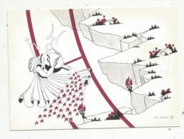 Cp,ASTROLOGIE , Série Zodiaque ,puzzle Composé De 12 Cartes,  N° 11, VERSEAU ,illustrateur Yvan Mauger , Dédicacée,1986 - Astrology