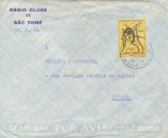 St. Thomas & Prince Sao Tomé E Principe 1964 Cover To Portugal With 2,50 E. Fight Against Malaria Insect Mosquito - Malattie