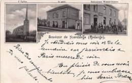 NOERDANGE (Redange) - Restaurant Wester-Soeurs - La Gare - L'église - Ed. Inconnu. - Cartes Postales