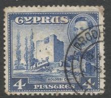 Cyprus. 1938-51 KGVI. 4pa Used. SG 156b - Cyprus (...-1960)