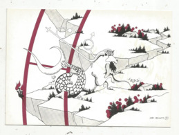 Cp,ASTROLOGIE,série Zodiaque,puzzle Composé De 12 Cartes,  N° 10, CAPRICORNE ,illustrateur Yvan Mauger , Dédicacée,1986 - Astrology
