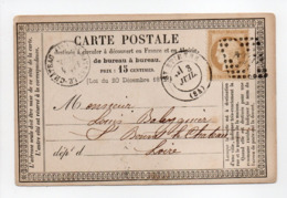 - Carte Postale SAINT-ETIENNE Pour SAINT-BONNET-LE-CHATEAU 3 JUIL 1875 - 15 C. Bistre Type Cérès Gros Chiffres - - Postmark Collection (Covers)