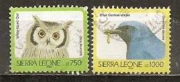 Sierra Leone 2000/2 Oiseaux Birds Avec Hibou Owl Obl - Sierra Leone (1961-...)