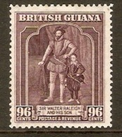BRITISH GUIANA 1944 96c SG 316a PERF 12½ X 13½ MOUNTED MINT Cat £18 - British Guiana (...-1966)