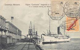 Mozambique - LOURENCO MARQUES - Paquebot Lusitania Leaving The Wharf - Publ. Moinhos. - Mosambik