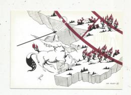 Cp,ASTROLOGIE,série Zodiaque,puzzle Composé De 12 Cartes,  N° 9, SAGITTAIRE ,illustrateur Yvan Mauger , Dédicacée,1986 - Astrology