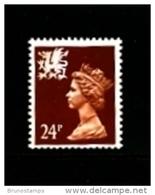 GREAT BRITAIN - 1991  WALES  24  P.  2 BANDS  MINT NH   SG  W60 - Regionali