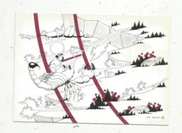 Cp,ASTROLOGIE,série Zodiaque,puzzle Composé De 12 Cartes,  N° 8, SCORPION ,illustrateur Yvan Mauger , Dédicacée,1986 - Astrology