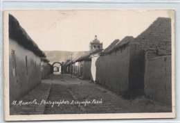 Peru - AREQUIPA - Calle 2 - REAL PHOTO - Publ. M. Mancilla. - Peru