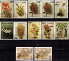 MBP-BK2-156-3 MINT ¤ GUYANA 12w MINT OUT OF SET- MINT - OVERPRINT ¤ FLOWERS OF THE WORLD - ORCHIDEE - FLEURS BLÜMEN - Orchidées