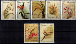MBP-BK2-163-2 MINT ¤ GUYANA 7w MINT OUT OF SET- MINT - ¤ FLOWERS OF THE WORLD - ORCHIDEE - FLEURS BLÜMEN - Orchidées