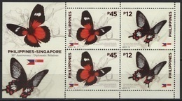 Philippines (2019) - Block -  /  Joint Issue With Singapore - Butterflies - Butterfly - Papillon - Vlinders - Schmetterlinge