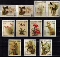 MBP-BK2-165-2 MINT ¤ GUYANA 11w MINT OUT OF SET- MINT - OVERPRINT ¤ FLOWERS OF THE WORLD - ORCHIDEE - FLEURS BLÜMEN - Orchids