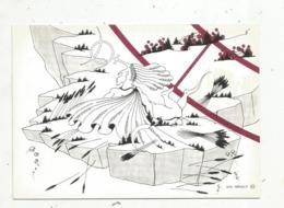 Cp,ASTROLOGIE,série Zodiaque,puzzle Composé De 12 Cartes,  N° 6 , VIERGE ,illustrateur Yvan Mauger , Dédicacée,1986 - Astrology